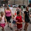 Montreal Canada June 2015 Rue St Paul Street Scene Evening 1