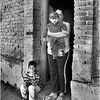 Mexico Arizpe Mother and Sons in Doorway April 2008