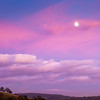 Caerleon with a Pink Sky & a Moon