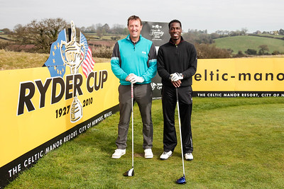 Christian Malcolm with  Matt Le Tissier Photographed by Pradip Kotecha