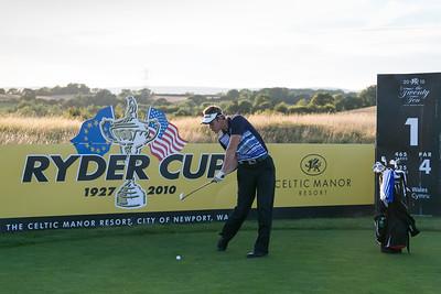 Golfer Aaron Price