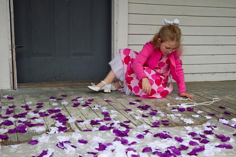 Zoe and the petals