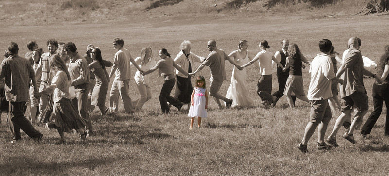 Little one and dancers at the wedding
