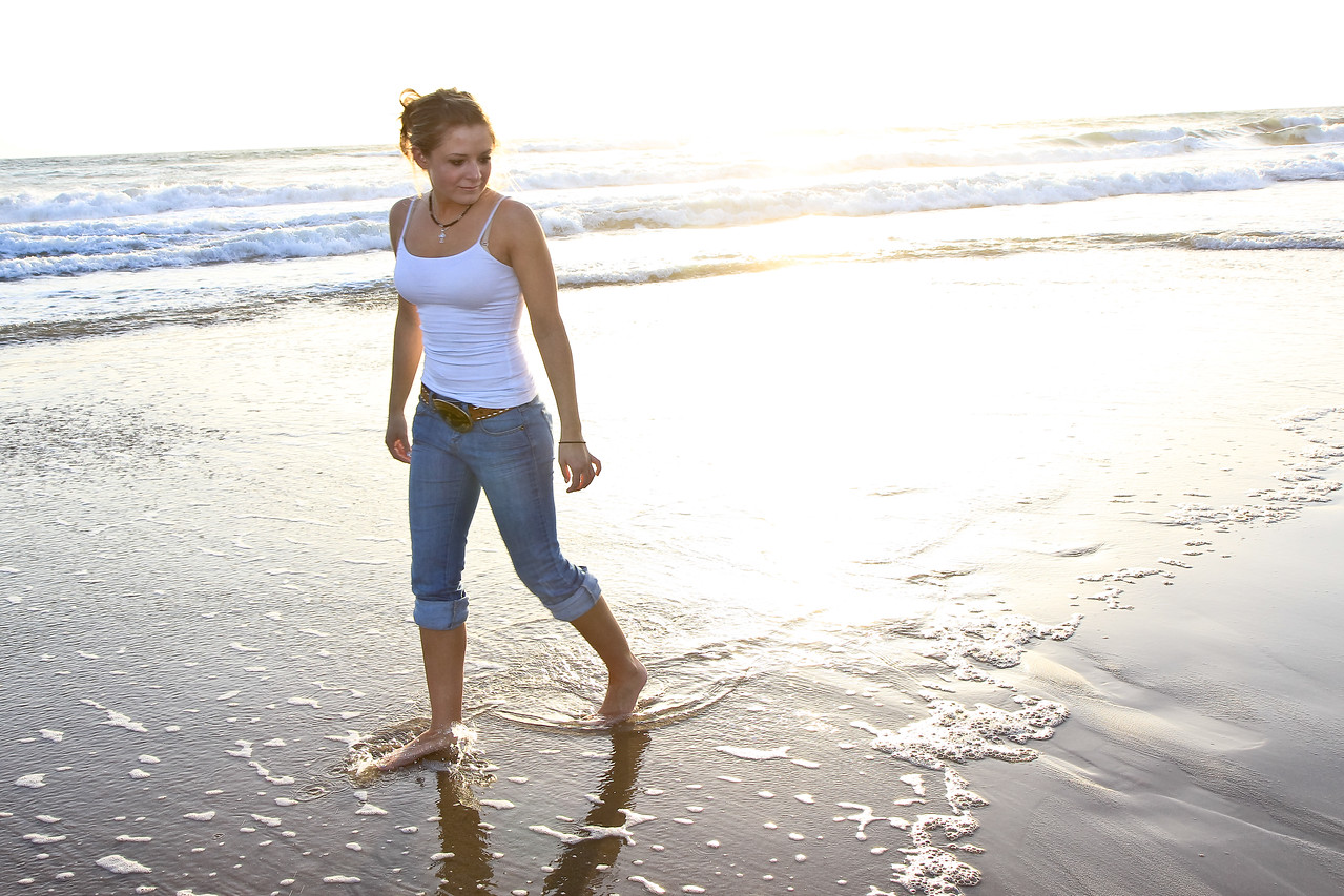 Sally on the beach