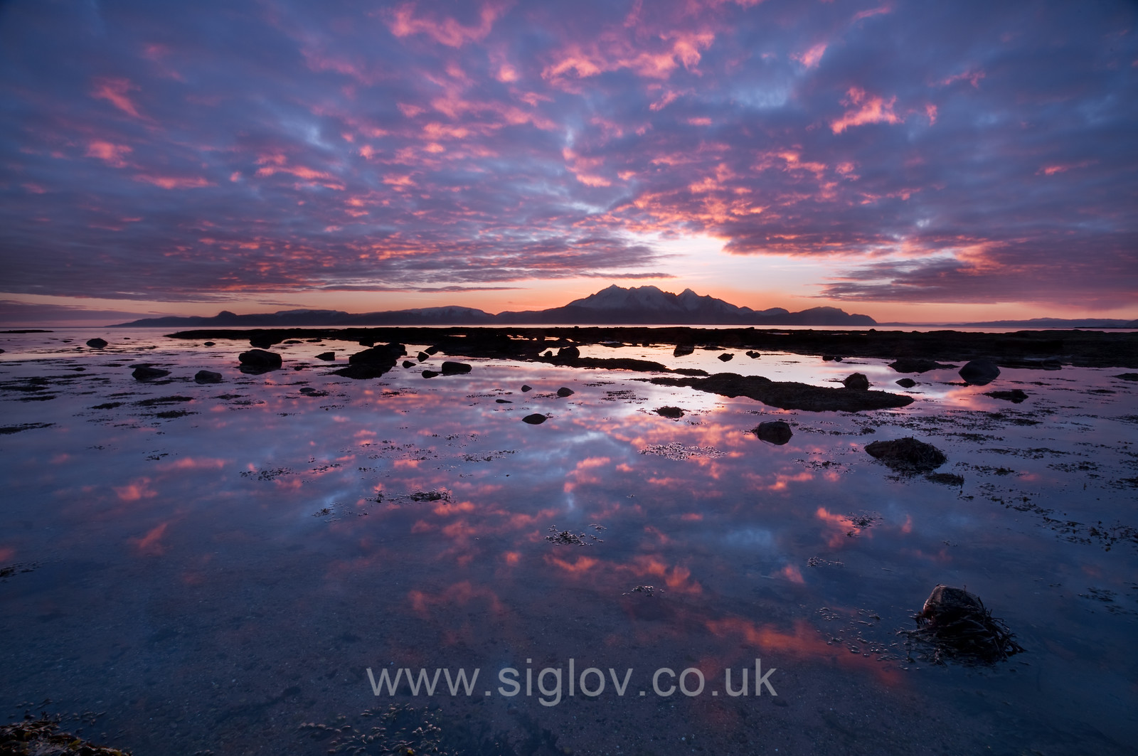 Arran - Red Sky sunset from Seamill
