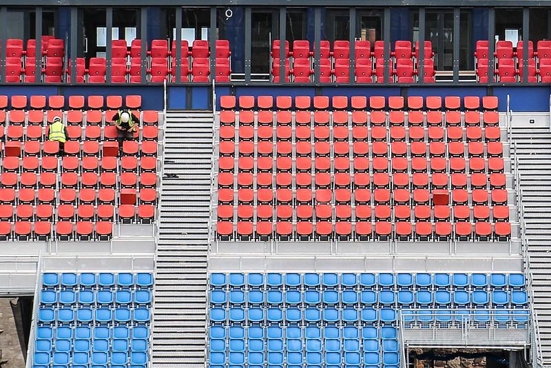 Stadium seats - getting ready for The Royal Edinburgh Military Tattoo - Visit the UNESCO World Heritage site of Edinburgh, Scotland