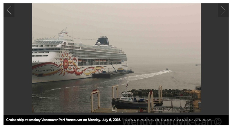 Norwegian Cruise Lines in the port of Vancouver