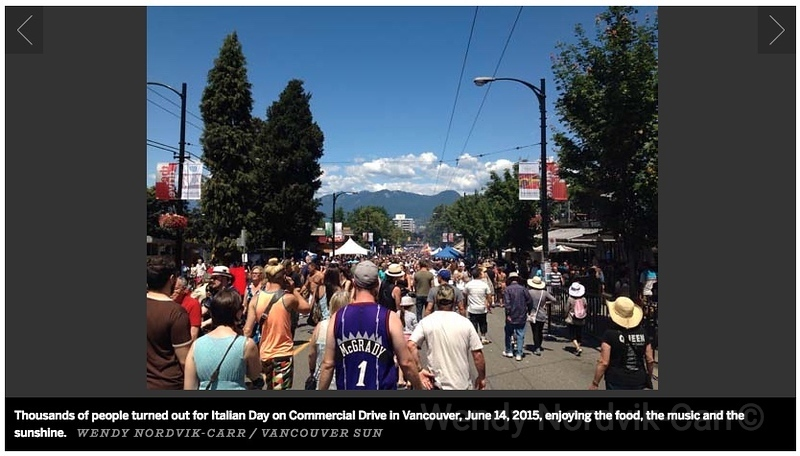 Thousands flood the Commercial Drive in Vancouver to celebrate Italian Days
