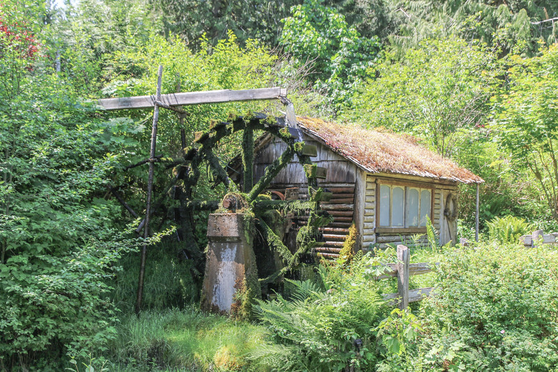 Charming historic Dalby Water Wheel, Union, Washington