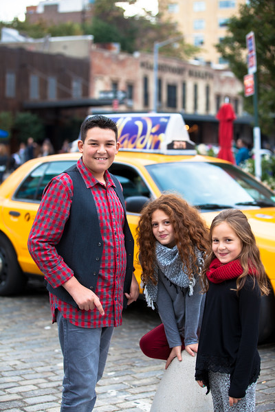 Family Holiday Portraits in the Meat Packing District NYC