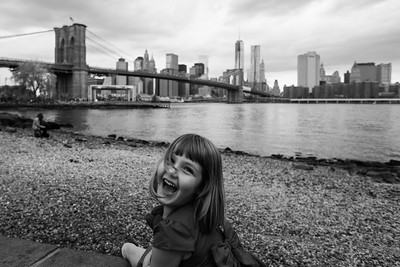 5 Year Old Portrait Session at the Brooklyn Bridge & Jane's Carousel