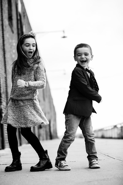 Sibling Fall Portraits by the Red Hook Waterfront
