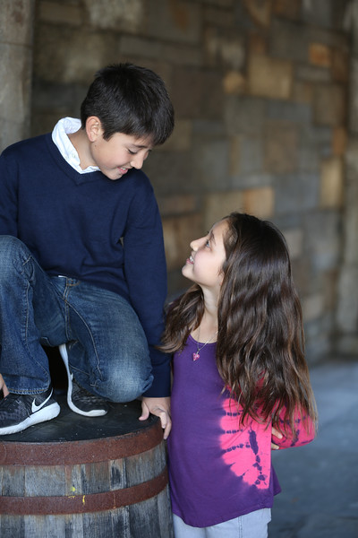 Siblings Fall Portraits on Riverside Drive NYC