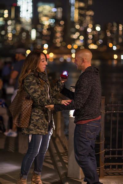 Marriage Proposal by the Brooklyn Bridge