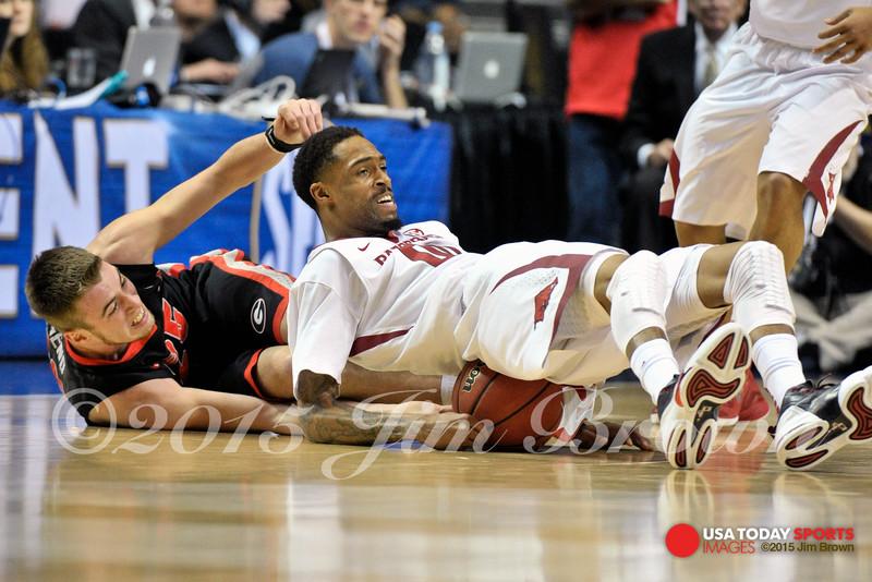 NCAA Basketball: SEC Conference Tournament-Georgia vs Arkansas