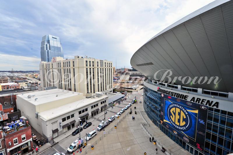 Mar 12 , 2015; Nashville, TN, USA; A general view of the Bridgestone Arena during the SEC tournament. Mandatory Credit: ©2015Jim Brown