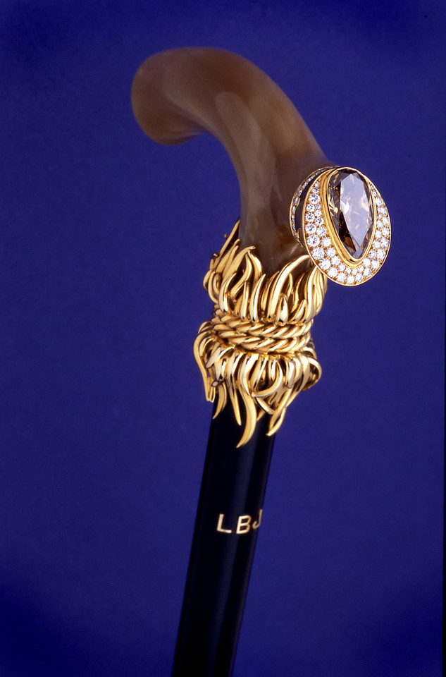 Walking cane from Presidential collection at the LBJ Museum