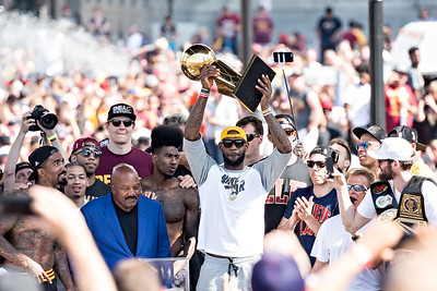 2016 NBA Champions Cleveland Rally - Larry O'Brien Trophy
