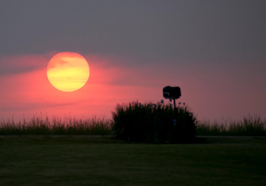 Sunset on the Farm Lane