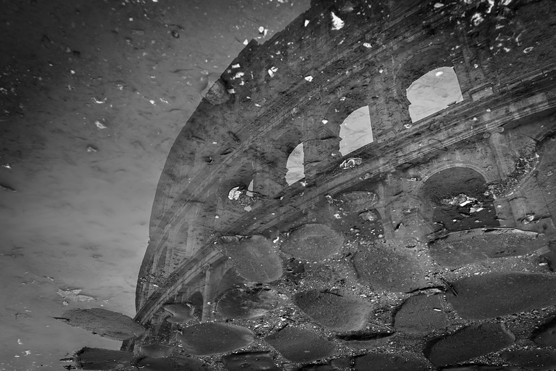 Colosseum reflections