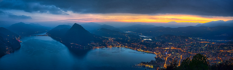 Lugano sunset