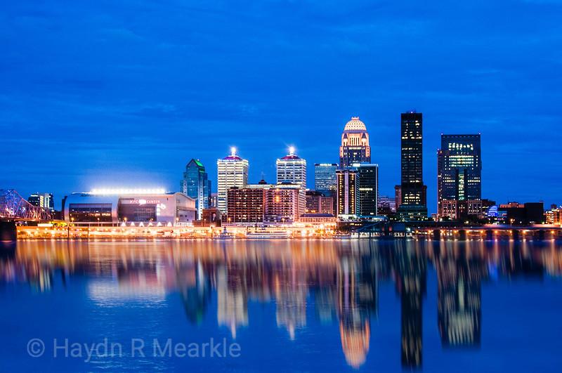 Louisville, Kentucky at Dusk