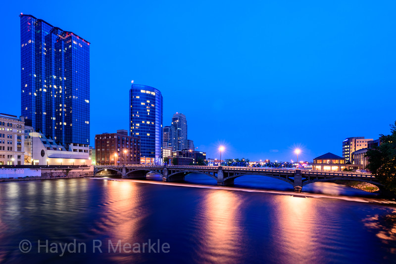View from Gillett Bridge on the Grand River, Grand Rapids, Michigan