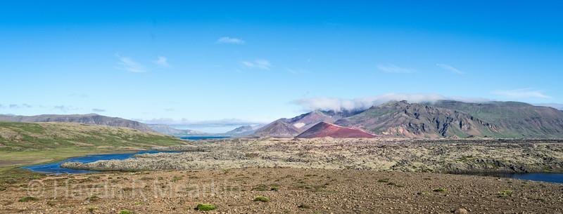 Views of Volcanoes along the Vatnaleid