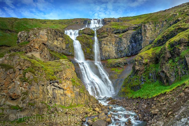 Waterfall near Lake Myvatn