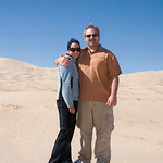 Kahla and I taking a stroll on the sand dunes of Mojave Desert, near Nipton, CA (March 2008)