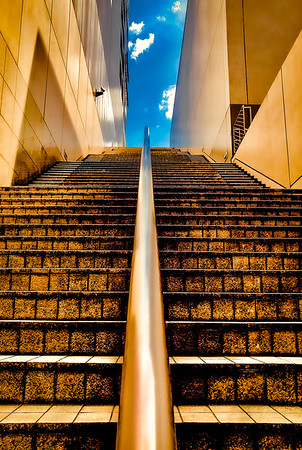 Stairway to Heaven with Surveillance Camera