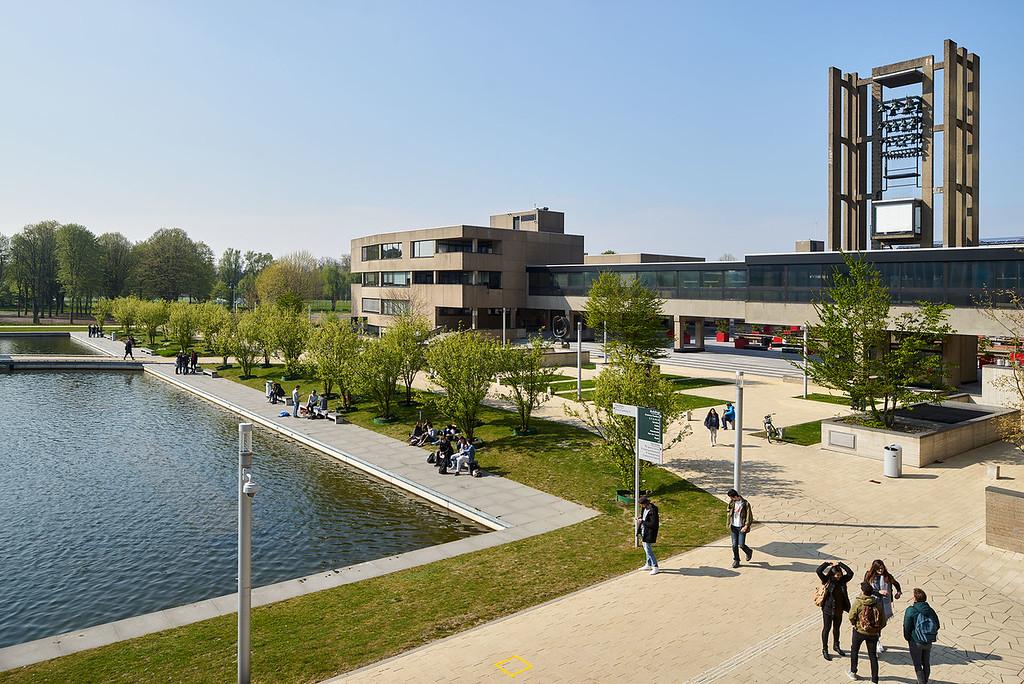 Hoogtefoto Campus Woudestein Erasmus Universiteit
