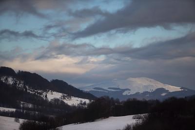 Wstęgi zimowego Bieszczadu