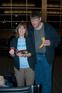 Ed Calvin, his wife Jen, and Ed's Banana.