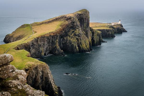 Neist Point Leuchtturm in Schottland auf der Isle of Sky