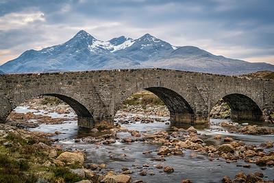 Die Alte Brücke bei Sligachan auf der Isle of Skye
