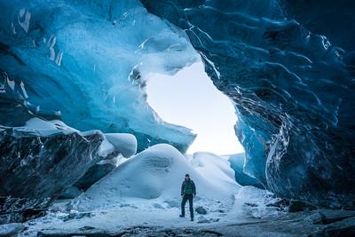 Eishöhle im Breidamerkurjökull Gletscher in Island