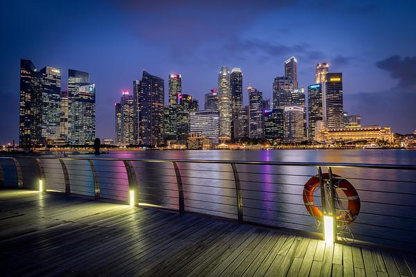Marina Bay mit Skyline