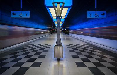 U-Bahnstation Hafencity-Universität in Hamburg