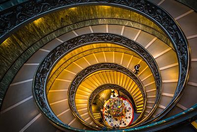 Spiraltreppe von Bramante im Vatikan, Rom / Italien