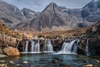 Wasserfälle bei den Fairy Pools