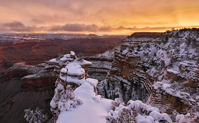 Wintry Canyon Sunrise