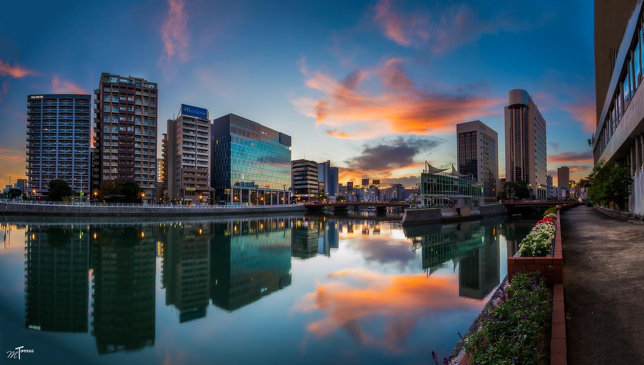Fukuoka City Sunrise