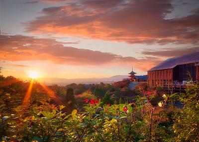 Sunset at Kiyomezu-Dera