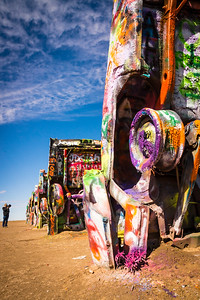 Cadillac Ranch art installation, Amarillo, Texas