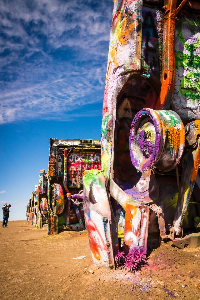 Cadillac Ranch art installation, Amarillo, Texas