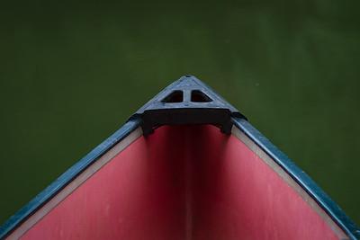 Front of canoe, Devil's Den State Park