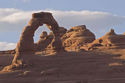 Delicate Arch as seen from the Delicate Arch viewpoint