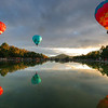 Balloons over the pond outside Old Parliament House, Canberra