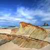 Glasshouse Rocks, view from beach, Narooma NSW